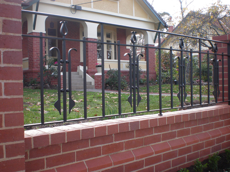 simple wrought iron fence images